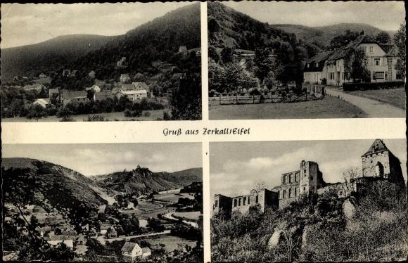 Ak Zerkall Hürtgenwald Nordrhein Westfalen, Ortsblick, Ruine 0