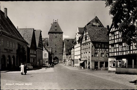 Ak Altdorf bei Nürnberg in Mittelfranken Bayern, Oberer Markt 0