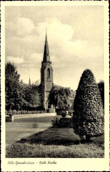 Ak Höhr Grenzhausen im Westerwaldkreis, Katholische Kirche 0