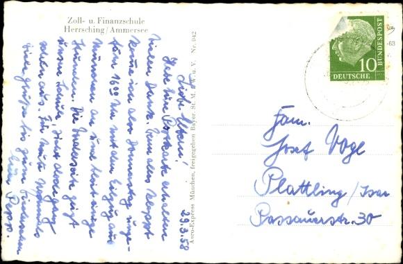 Ak Herrsching Ammersee, Zoll- und Finanzschule 1