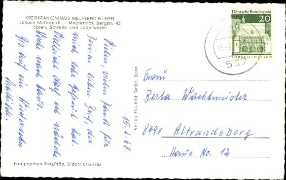 Ak Mechernich Eifel, Kreiskrankenhaus Mechernich 1