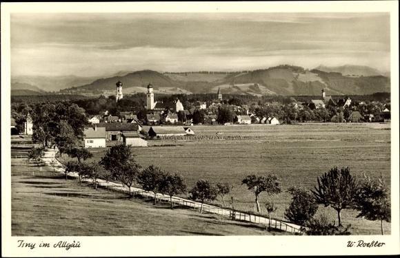 Ak Isny im Allgäu Baden Württemberg, Gesamtansicht