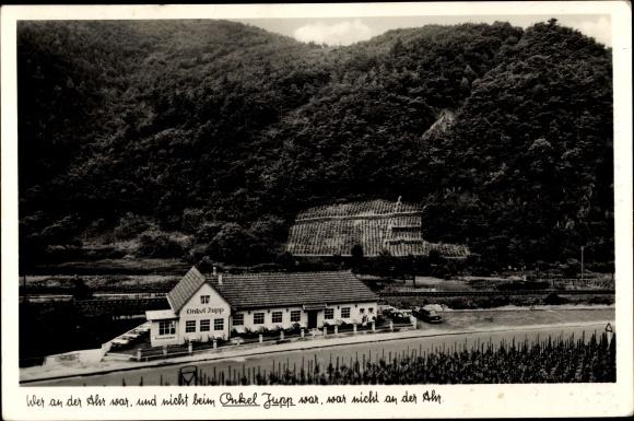 Ak Walporzheim Bad Neuenahr Ahrweiler in Rheinland Pfalz, Wein- und Bierrestaurant Onkel Jupp 0