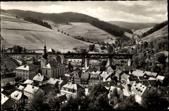 Ak Ludwigsstadt in Oberfranken, Gesamtansicht 0