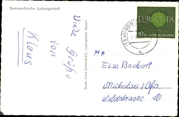 Ak Ludwigsstadt in Oberfranken, Gesamtansicht 1