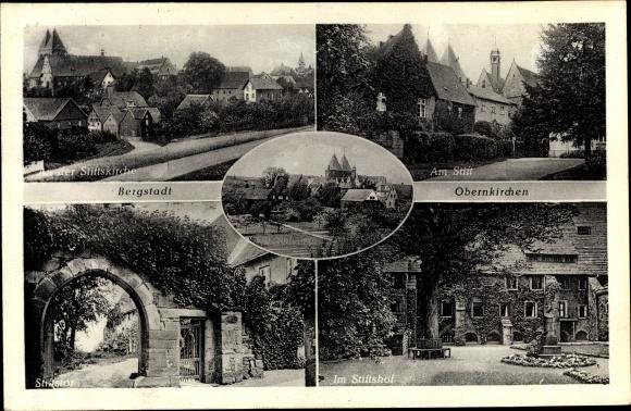 Ak Bergstadt Oberkirchern, Kirche, Stift 0