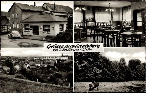 Ak Edelsberg Weinbach Mittelhessen, Gasthaus, Gesamtansicht