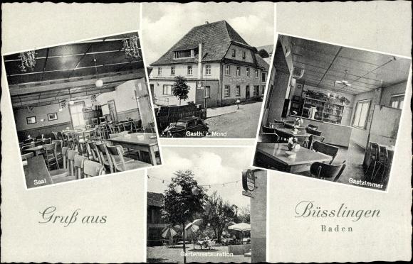 Ak Büßlingen Tengen Baden Württemberg, Gasthof zum Mond 0