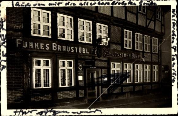 Ak Helmstedt in Niedersachsen, Funkes Bräustübl, Neumärker Straße 36 0