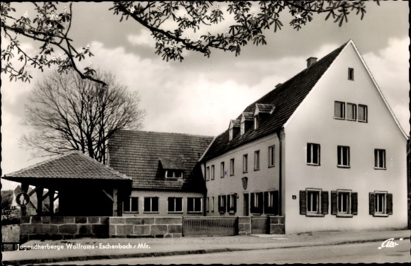 Ak Wolframs Eschenbach Mittelfranken, Jugendherberge 0