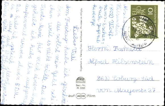 Ak Wolframs Eschenbach Mittelfranken, Jugendherberge 1
