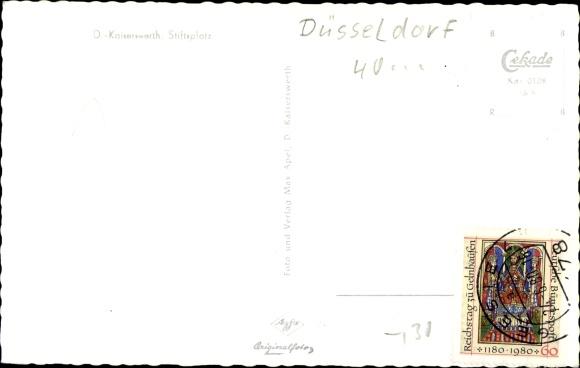 Ak Kaiserwerth Düsseldorf am Rhein, Stiftsplatz 1