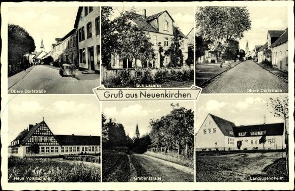 Ak Neuenkirchen Nordrhein Westfalen, Haus Lazarus, Neue Volksschule, Landjugendheim 0