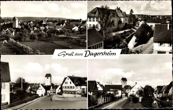 Ak Dagersheim Böblingen in Baden Württemberg, Total, Dorfpartie 0