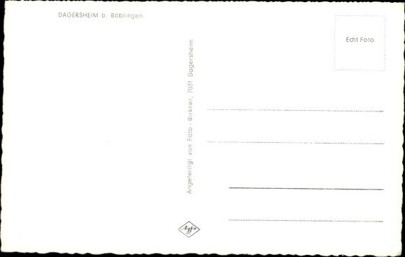 Ak Dagersheim Böblingen in Baden Württemberg, Total, Dorfpartie 1
