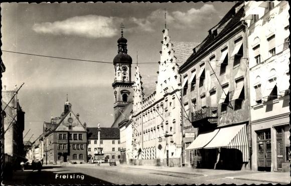 Ak Freising in Oberbayern, Dorfpartie 0