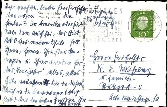 Ak Kirchheim unter Teck, Max Eyth Haus 1