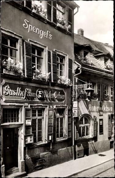 Ak Heidelberg am Neckar, Hotel Zum Roten Ochsen, Spengel's 0