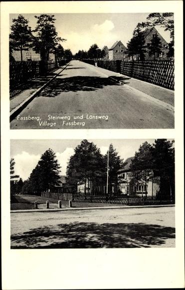 Ak Fassberg in Niedersachsen, Steinweg und Lönsweg 0