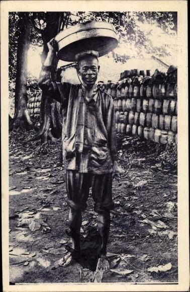 Ak Saigon Cochinchine Vietnam, Marchand de gateaux chinois, Händler 0