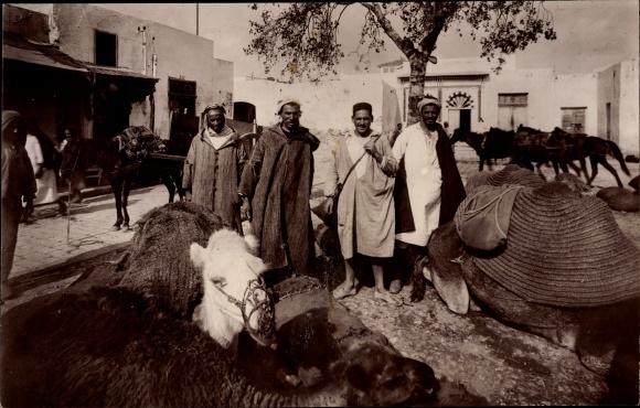 Ak Bizerte Tunesien, Marché au Charbon, Kamele