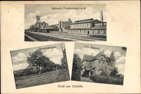Ak Sehnde in Niedersachsen, Kaliwerk Friedrichshall AG, Villa Ermisch, Beamtenhäuser 0