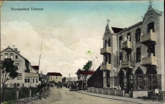 Ak Duhnen Cuxhaven in Niedersachsen, Hotel Am Meer, Restaurant 0