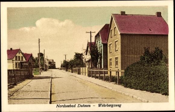 Ak Duhnen Cuxhaven in Niedersachsen, Wehrbergsweg 0
