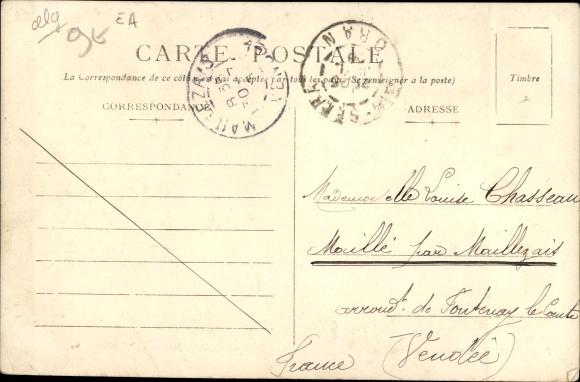 Ak Beni Ounif Algerien, Rue principale, Postes et Telegraphes 1