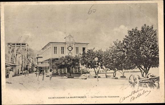 Ak Saint Pierre Martinique, La Chambre de Commerce 0