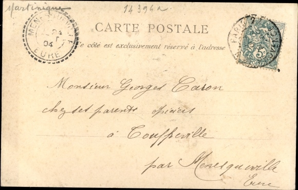 Ak Saint Pierre Martinique, La Chambre de Commerce 1