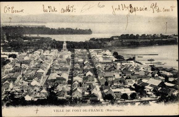 Ak Fort de France Martinique, Vue générale