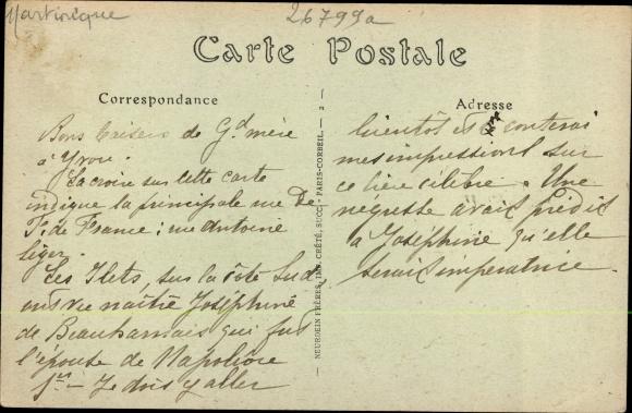 Ak Fort de France Martinique, Vue générale 1