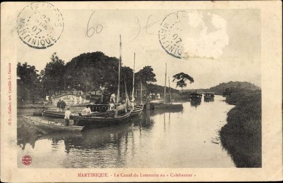 Ak Martinique, Le Canal du Lamentin au Callebassier 0