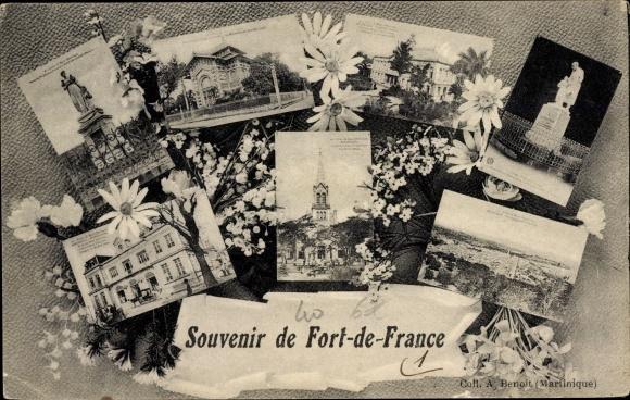 Ak Fort de France Martinique, Monument, Église, Vue générale 0