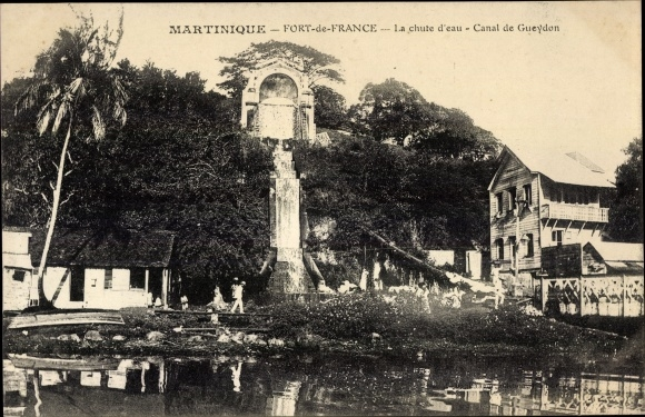 Ak Fort de France Martinique, La chute d'eau, Canal de Gueydon