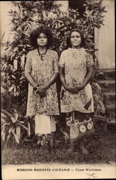 Ak Ozeanien, Missions Maristes d'Océanie, Types Wallisiens, Portrait 0