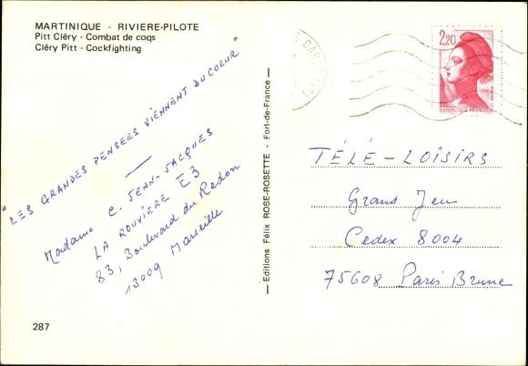 Ak Rivière-Pilote Martinique, Pitt Cléry, Combat de coqs, spectateurs 1