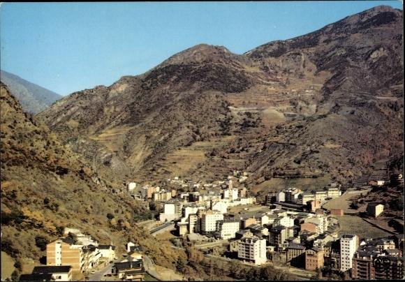 Ak Sant Julià de Lòria Andorra, vue générale, paysage montagneux
