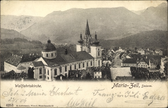 Ak Mariazell Steiermark, Wallfahrtskirche 0