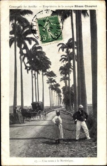 Ak Rhum Chauvet Martinique, Compagnie des Antilles, Propriétaire de la marque, une route