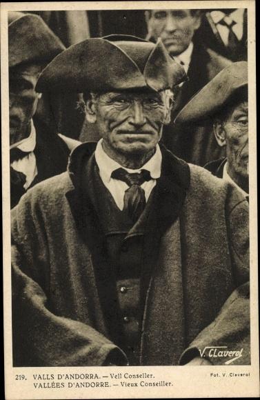 Ak Andorra, Vieux Conseiller, Stadtrat, Portrait