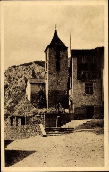 Ak Ordino Andorra, La Place de l'Église 0
