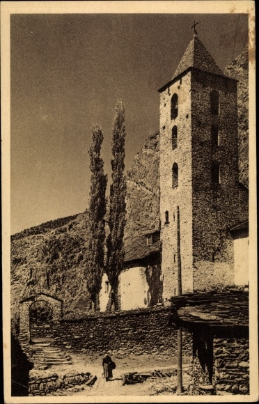 Ak Canillo Andorra, L'Église 0