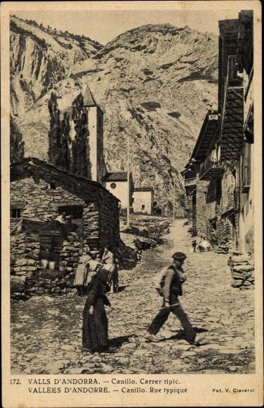 Ak Canillo Andorra, Carrer tipic 0