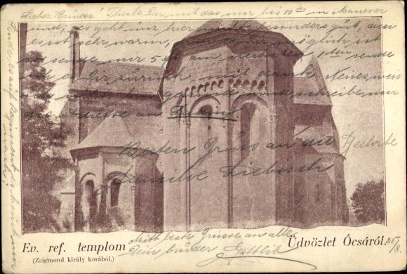 Ak Ócsa Ungarn, Ev. ref. templom