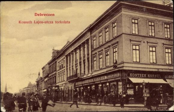 Ak Debrecen Debrezin Ungarn, Kossuth Lajos utcza torkolata