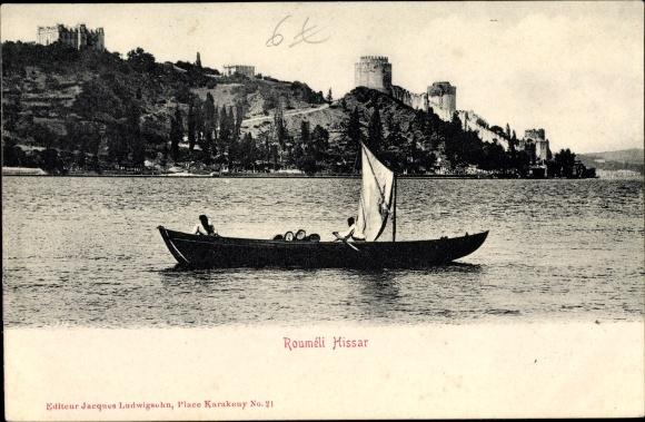 Ak Konstantinopel Istanbul Türkei, Rumeli Hisarı, Ruderboot 0