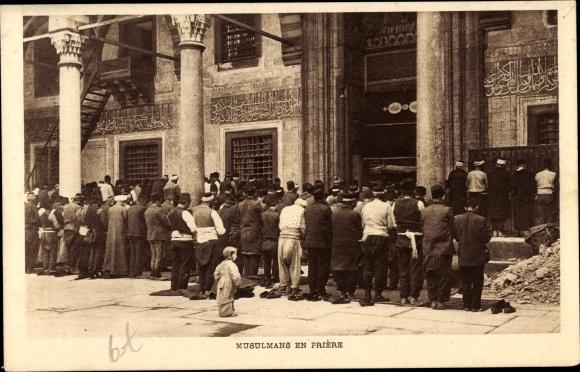 Ak Konstantinopel Istanbul Türkei, Musulmans en prière 0
