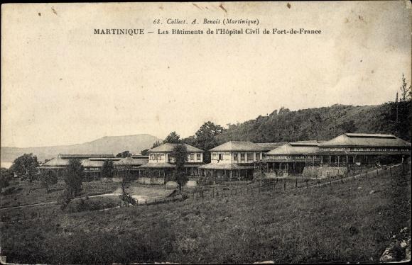 Ak Fort de France Martinique, Les Bâtiments de l'Hôpital Civil 0